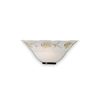 Ideal Lux Foglia applique verre blanc classique