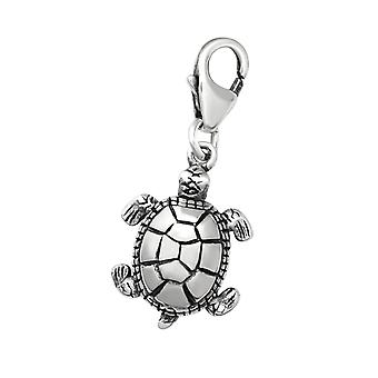 Turtle - 925 Sterling Silver Charms with Lobster