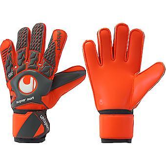 UHLSPORT AERORED supermjuk målvakt handskar storlek