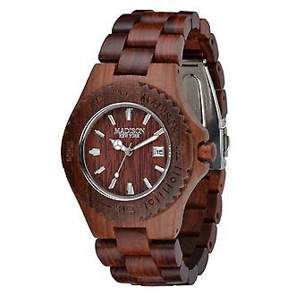 Madison New York Unisex Watch Bracelet Watch wood G4542C