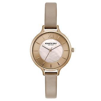 Kenneth Cole New York vrouwen pols horloge analoog kwarts leder KC15187004