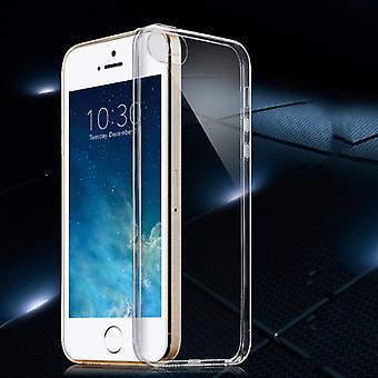 Silikoncase gjennomsiktig 0.3 mm ultra tynn sak for Apple iPhone 5S 5 dekke SE