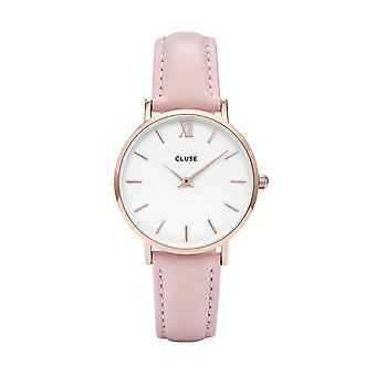 Cluse Cl30001 Minuit Rose Gold & Pink Leather Ladies Watch