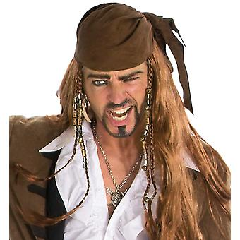 Pirate wig Caribbean pirates
