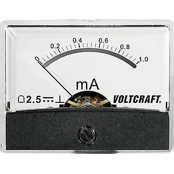 Analoga-rackmonterade mätaren VOLTCRAFT AM-60 X 46/1MA/DC 1 mA