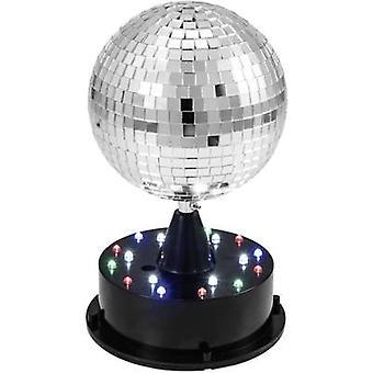 Eurolite 42109267 LED Mirror ball set incl. base, incl. LED lighting 13 cm