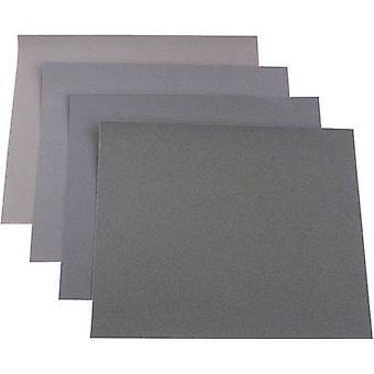 812329 Sandpaper sheet set Grit size 180, 240, 400, 600 (L x W) 280 mm x 230 mm 20 pc(s)