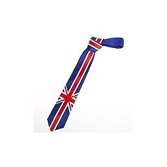 ユニオン ジャック摩耗ユニオン ジャックの国旗デザイン細いネクタイ