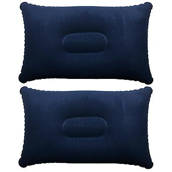 TRIXES 2 x синий надувная подушка кемпинг поездки мягкой раздутии