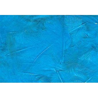 5g Turquoise Fluffy Craft Feathers   Scrapbooking Card Making Embellishments