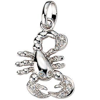 Znaki zodiaku przyczepy Skorpion srebro 925 sterling silver 3D