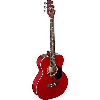 Stagg guitarra acústica del auditorio - rojo