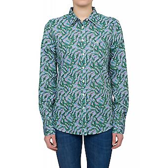 Lee One Pocket ladies long sleeve shirt blue patterned Pocket blouse