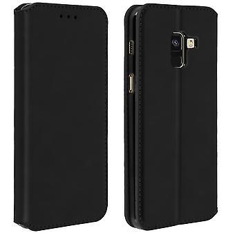 Dunne Case, Classic Edition staan geval met kaartslot voor Galaxy A8 - zwart