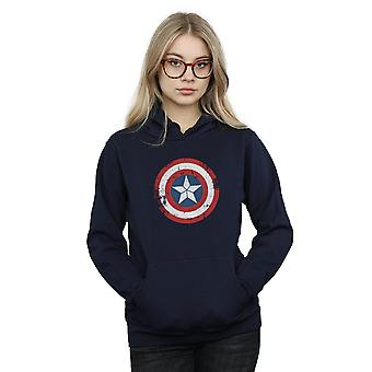 Staunen Sie, dass Frauen Captain America Bürgerkrieg erschüttert Schild Hoodie