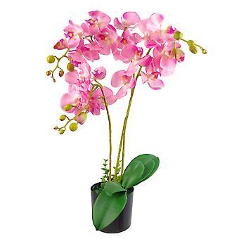60cm artificiel luxe Orchid - Triple tige - rose plante réaliste