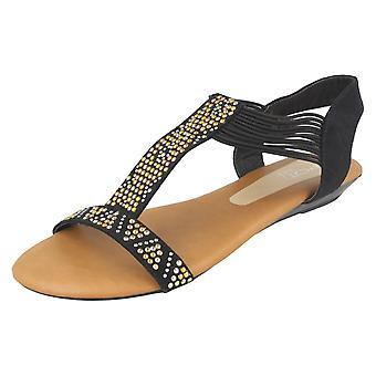 Damen-Spot auf flachen Sandalen F10589