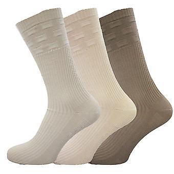 01003e52 Sokker Uwear Mens bomull rik løs topp ingen elastisk Multipakk sokker