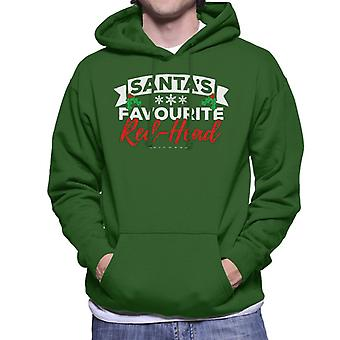 Santas Favourite Redhead Christmas Men's Hooded Sweatshirt