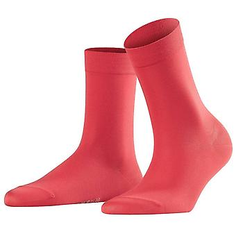 Falke Cotton Touch chaussettes - lave rouge