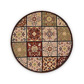 Multi Design Hand Tufted Wool Round  Rug
