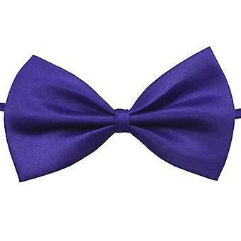 Handsome Solid Color Clip-on Bow Tie-Lilac