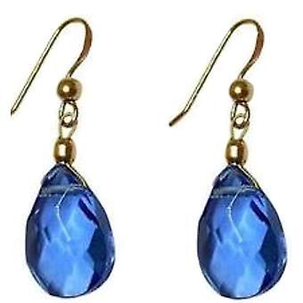 Blue Topaz Earrings GWENDOLYN gemstones gold earrings gold plated