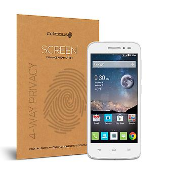 Celicious Privacy Plus 4-Way Anti-Spy Filter Screen Protector Film Compatible with Alcatel OneTouch POP Astro