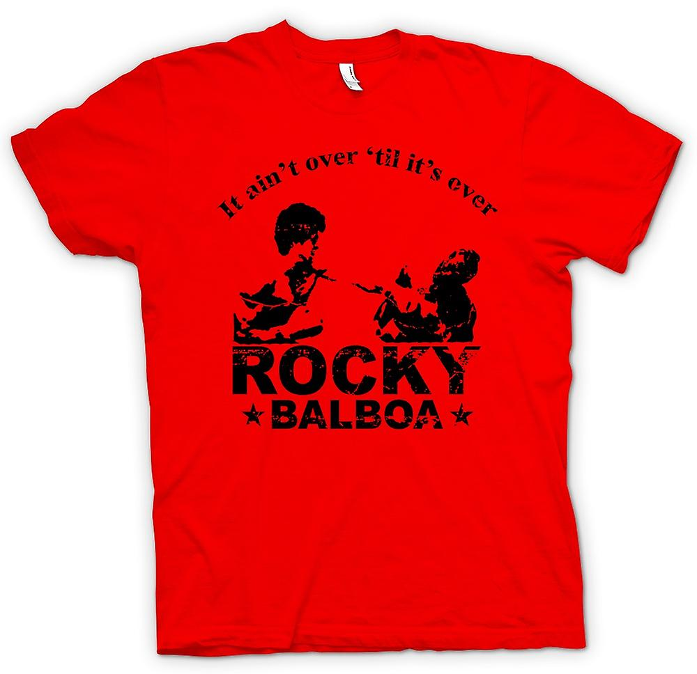Mens T-shirt - Rocky Balboa Aint Over - Boxing - Funny