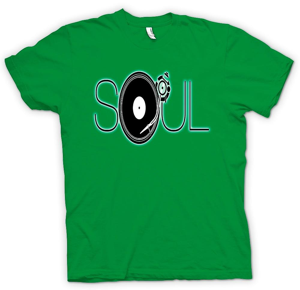 Mens t-shirt - Soul - Retro musica DJ
