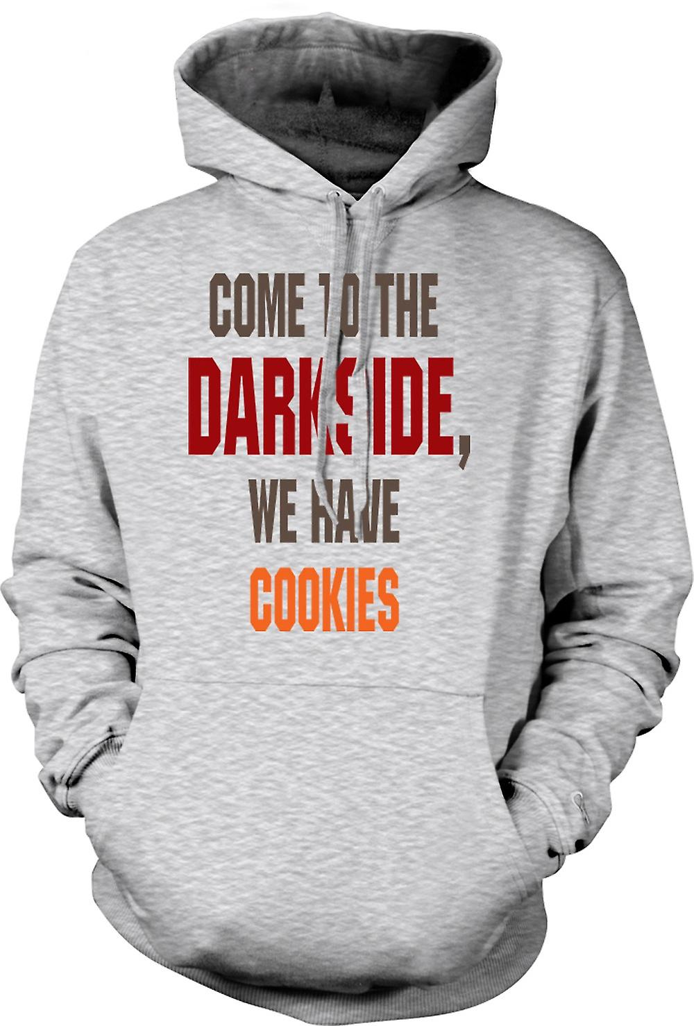 Mens Hoodie - Come To The Darkside, We Have Cookies - Funny