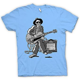 Kids T-shirt - Old Blues Guitarist With Amp - Music