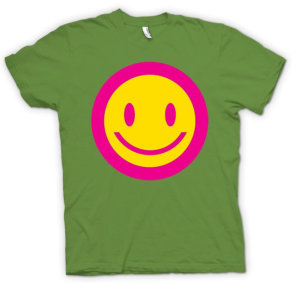 Mens T-shirt - Pink Smiley Face - Acid Kids