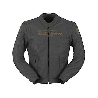 Furygan Black Sherman Motorcycle Leather Jacket