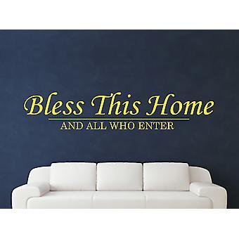 Bless This Home Wall Art Sticker - Sulphur