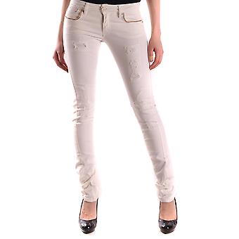 Pinko White Cotton Jeans