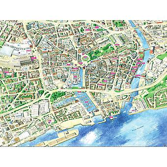 Stadtbilder Stadtplan von Hull 400 Stück Puzzle 470 x 320 mm (Hpy)