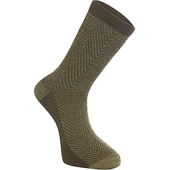 Madison Herringbone-Olive Assynt Merino Long MTB Socks