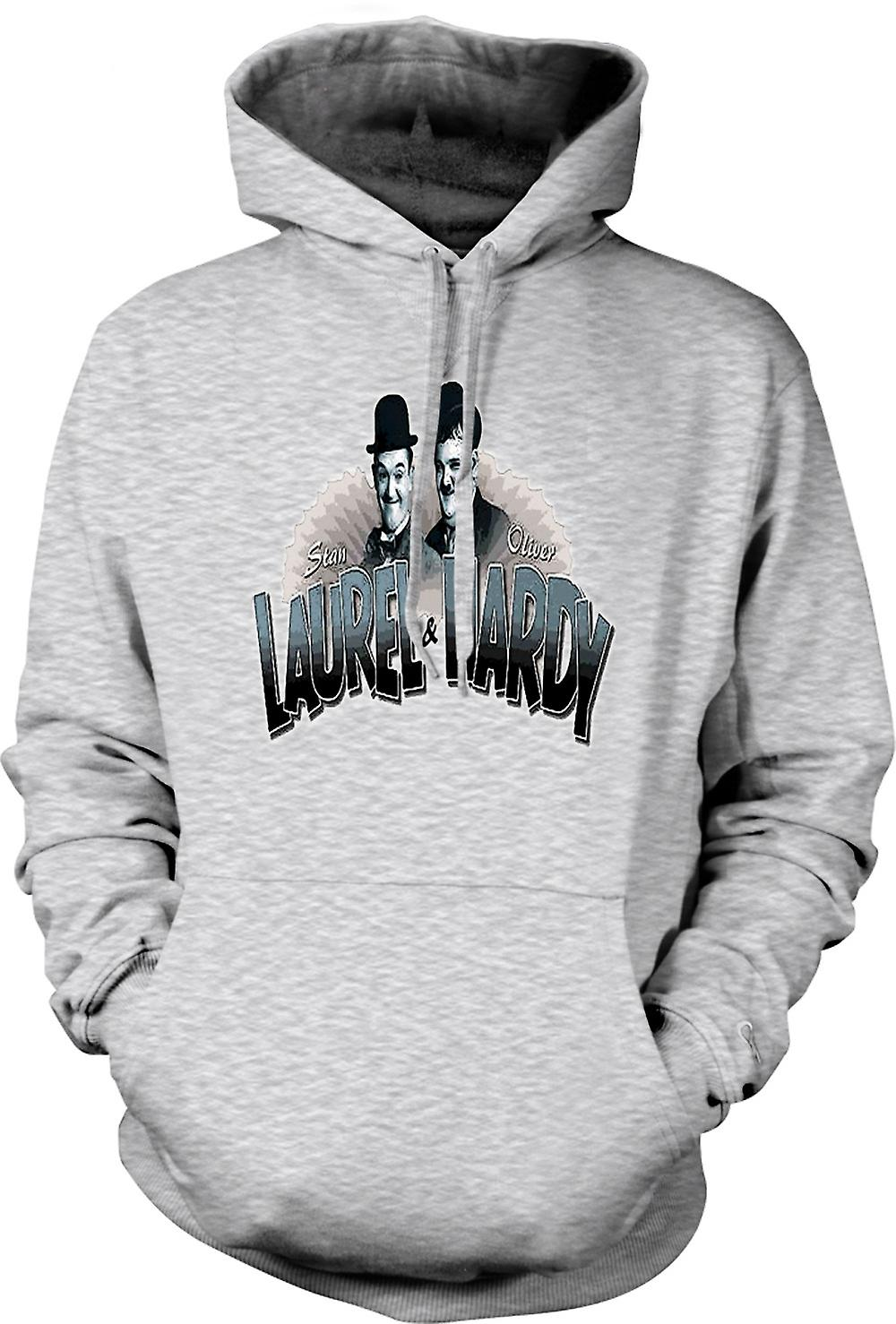 Mens Hoodie - Laurel And Hardy - Colour