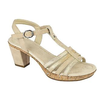 Ladies Womens Sandals Buckle Halter Back T Bar Ankle Strap Mid Heel Shoes