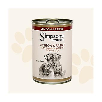 Simpsons Premium Venison & Rabbit Casserole Wet Food For Dogs