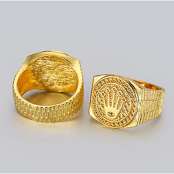Choice of men's chunky gold rings
