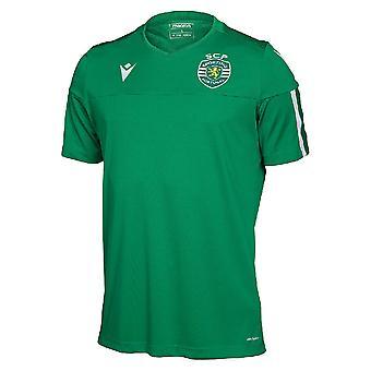 2019-2020 Sporting Lisbon Macron Poly Tee (Vert)