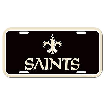 Wincraft NFL License Plate - New Orleans Saints