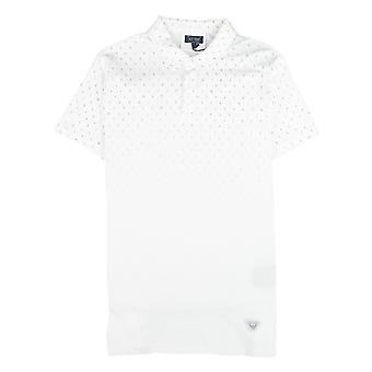 Armani Jeans Letter Logo Short Sleeve Polo Shirt White