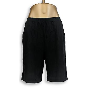 Denim & Co. Women's Shorts Stretch French Terry Black A224827