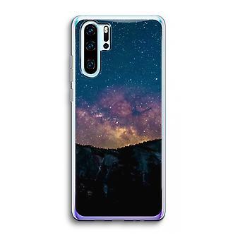 Huawei p30 pro caso transparente (Soft)-viajar para o espaço