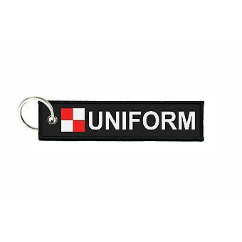 Porte cles plongee drapeau code signaux signal alphabet maritime U UNIFORM