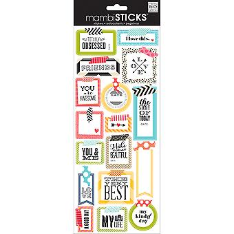Sayings Stickers Washi Tape Shapes Stp 175