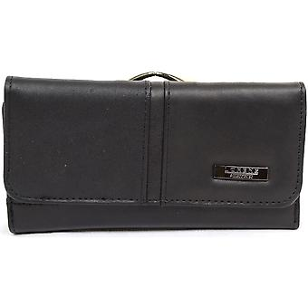 Womens Large Soft Leather Money and Note Purse with Micro Fibre Inner & Multiple Slot and Zipped compartments